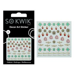 SoKwik - Ornamente Unghii - Nail Art Sticker - Flower 253