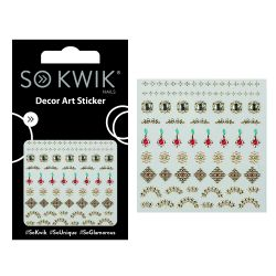 SoKwik - Ornamente Unghii - Nail Art Sticker - Jewel 255