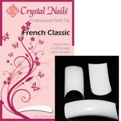 Cystal Nails - Tip Box French Classic (100buc/set)