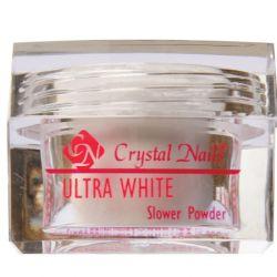 Crystal Nails - Praf Acrylic Slower Powder - Ultra White (100g)