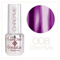 Crystal Nails - Chrome CrystaLac - 8 Aubergine (4ml)