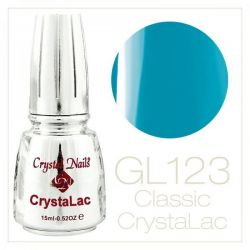 Crystal Nails - CrystaLac Neon GL123 - Albastru azur (15ml)