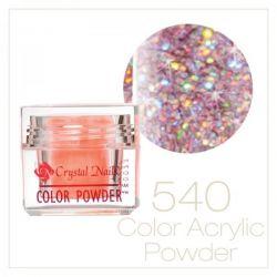 Crystal Nails - Praf acrylic colorat - 540 - Roz deschis brilliant 7g