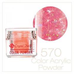 CRYSTAL NAILS - Praf acrylic colorat - 570 - 7g