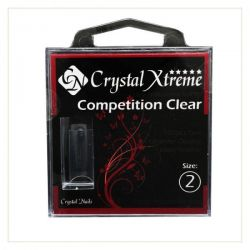 Crystal Nails - Tips Xtreme Competition Clear box - 2 (50 buc/set)