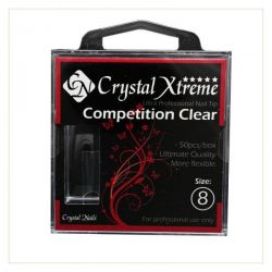 Crystal Nails - Tips Xtreme Competition Clear box - 8 (50 buc/set)