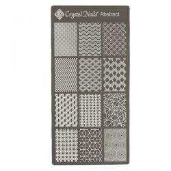 Crystal Nails - Stamping Plate - Abstract (matrita pt stampila)