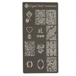Crystal Nails - Stamping Plate -Sweetheart (matrita pt stampila)