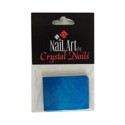 Crystal Nails - Suport intaritor aluminiu - Albastru (20buc)