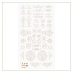 Crystal Nails - Water Decal Coloring Style - Abtibilde pentru Contur Modele - Rococo Gold