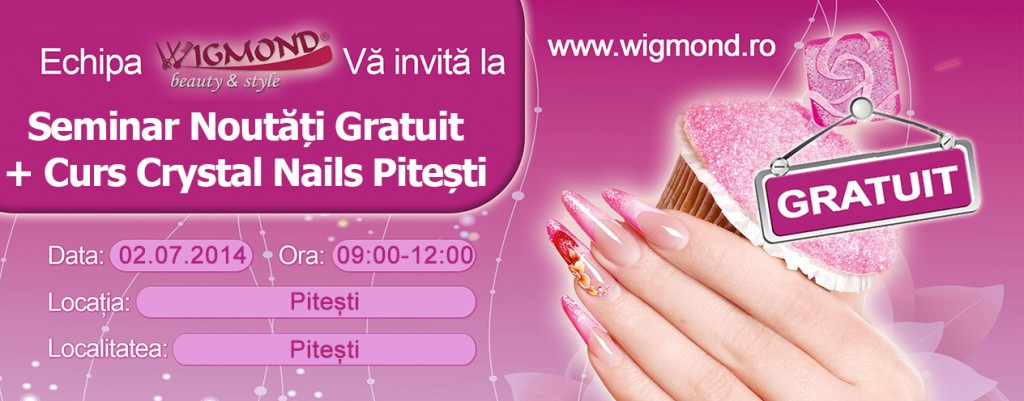 Seminar Noutati + Curs de Unghii Tehnice Crystal Nails Pitesti 02 iulie 2014