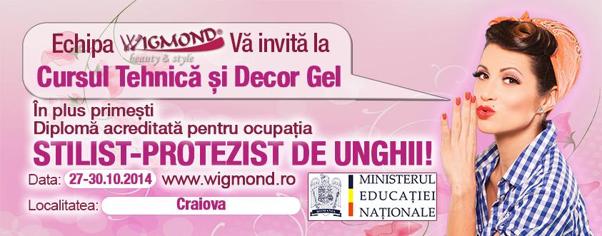 Curs Acreditat Tehnica si decor Gel Craiova 27-30 octombrie 2014