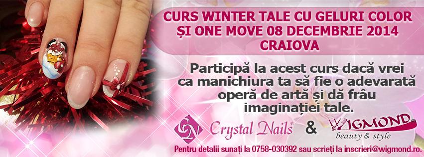 Curs Winter Tale cu Geluri Color si One move  08 decembrie 2014 Craiova