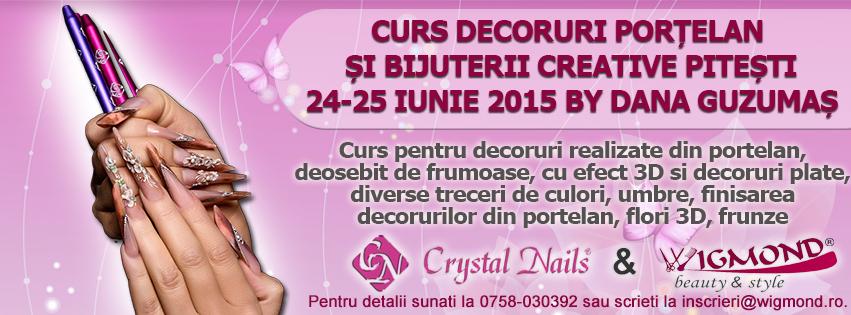 Curs Decoruri Portelan si Bijuterii Creative Pitesti 24-25 iunie 2015