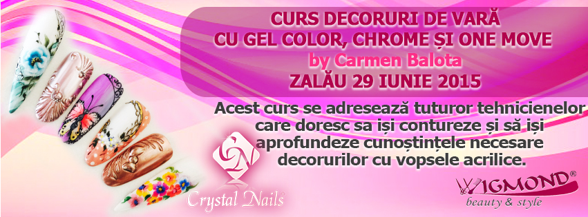 Curs Decoruri de Vara cu Gel Color. Chrome si One Move Zalau 29 iunie 2015 by Carmen Balota