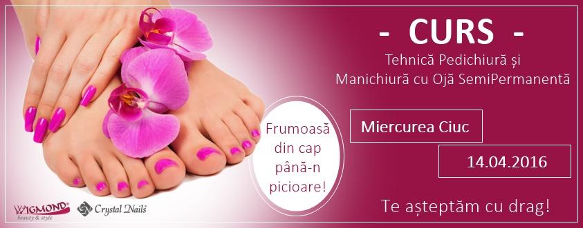 curs pedichiura + manichiura semipermanenta