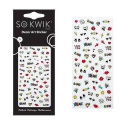 SoKwik - Ornamente Unghii - Nail Art Sticker - Cute 166