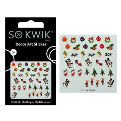 SoKwik - Ornamente Unghii - Nail Art Sticker - Christmas 215