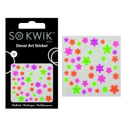 SoKwik - Ornamente Unghii - Nail Art Sticker - Neon 228