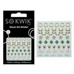 SoKwik - Ornamente Unghii - Nail Art Sticker - Jewel 256