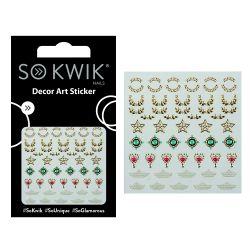 SoKwik - Ornamente Unghii - Nail Art Sticker - Jewel 256