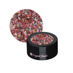 Crystal Nails - Nail Art Glitter 3D - Peach