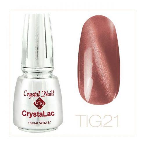Crystal Nails - Tiger Eye CrystaLac - tig 21 (15ml)