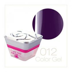 Crystal Nails - Color Gel - Decor Gel - 012 Mov inchis (5ml)