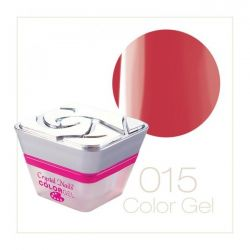 Crystal Nails - Color Gel - Decor Gel - 015 Roz roscat (5ml)