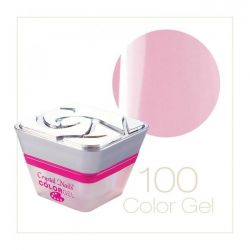 Crystal Nails - Color Gel - 100 Roz metalizat (5ml)