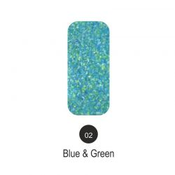 Nailover - Tweed Effect - Blue & Green - 02
