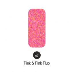 Nailover - Tweed Effect - Pink & Pink Fluo - 03