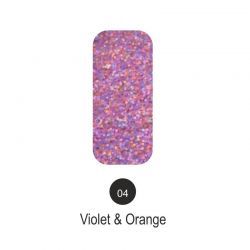 Nailover - Tweed Effect - Violet & Orange - 04