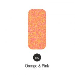 Nailover - Tweed Effect - Orange & Pink - 05