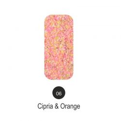 Nailover - Tweed Effect - Cipria & Orange - 06