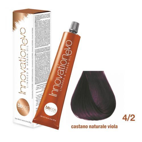 BBCOS- Vopsea de păr Innovation EVO (4/2- Castano Naturale Viola)