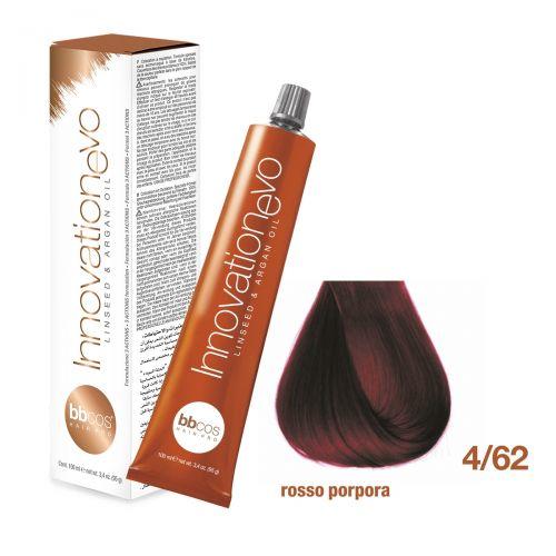 BBCOS- Vopsea de păr Innovation EVO (4/62- Rosso Porpora)