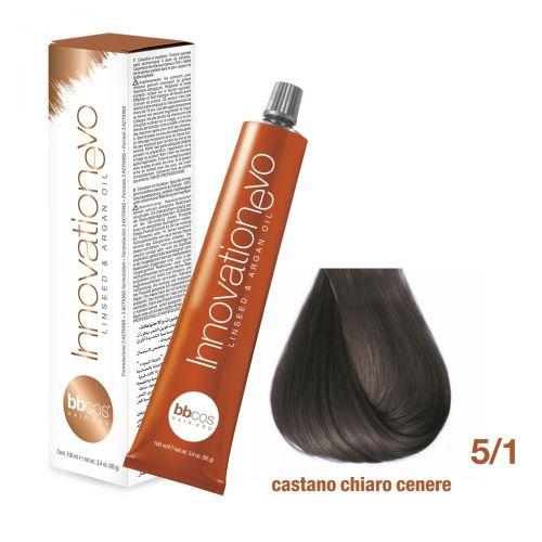 BBCOS- Vopsea de păr Innovation EVO (5/1- Castano Chiaro Cenere)
