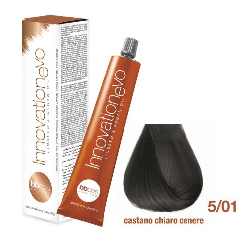 BBCOS- Vopsea de păr Innovation EVO (5/01- Castano Chiaro Cenere)