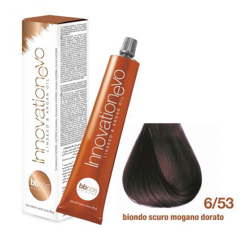 BBCOS- Vopsea de păr Innovation EVO (6/53- Biondo Scuro Mogano Dorato)