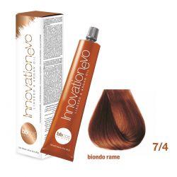 BBCOS- Vopsea de păr Innovation EVO (7/4- Biondo Rame)