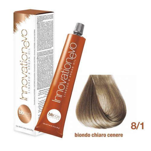 BBCOS- Vopsea de păr Innovation EVO (8/1- Biondo Chiaro Cenere)