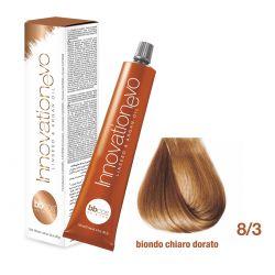 BBCOS- Vopsea de păr Innovation EVO (8/3- Biondo Chiaro Dorato)