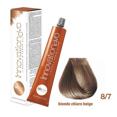 BBCOS- Vopsea de păr Innovation EVO (8/7- Biondo Chiaro Beige)