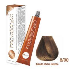 BBCOS- Vopsea de păr Innovation EVO (8/00- Biondo Chiaro Intenso)