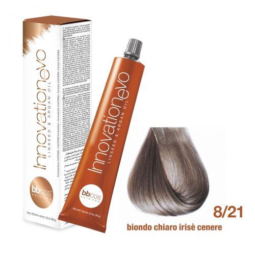 BBCOS- Vopsea de păr Innovation EVO (8/21- Biondo Chiaro Irise Cenere)