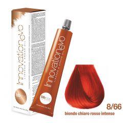 BBCOS- Vopsea de păr Innovation EVO (8/66- Biondo Chiaro Rosso Intenso)