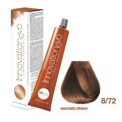 BBCOS- Vopsea de păr Innovation EVO (8/72- Nocciola Chiaro)