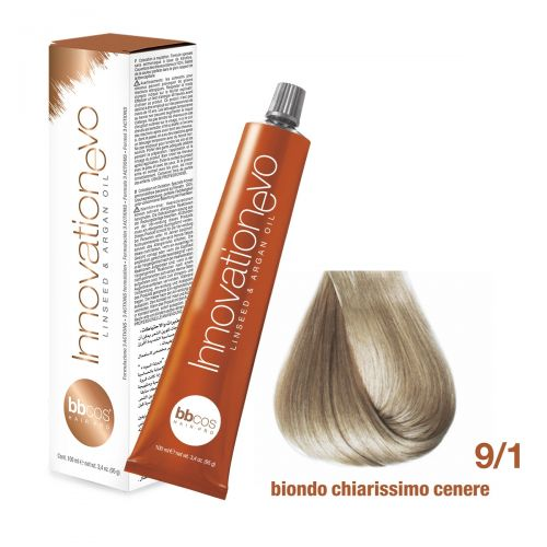 BBCOS- Vopsea de păr Innovation EVO (9/1- Biondo Chiarissimo Cenere)