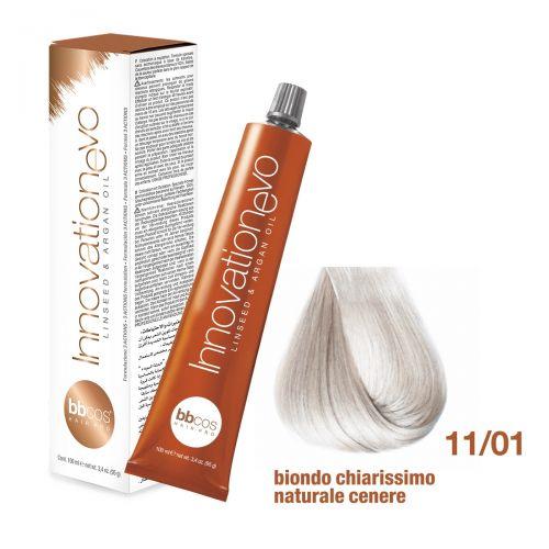 BBCOS- Vopsea de păr Innovation EVO (11/01- Biondo Chiarissimo Naturale Cenere)